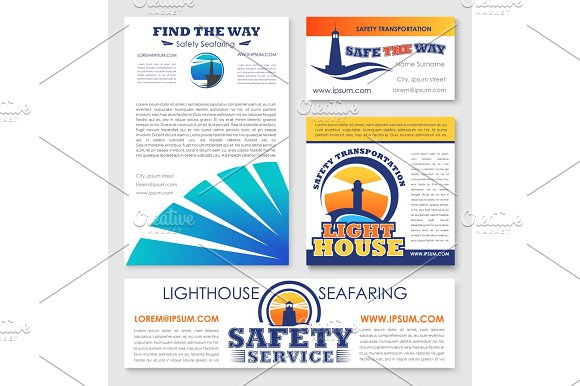 Safety Transportation Marine Company Vector Design
