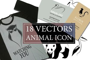 18 VECTORS ANIMAL ICON