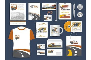 Corporate templates for road construction company