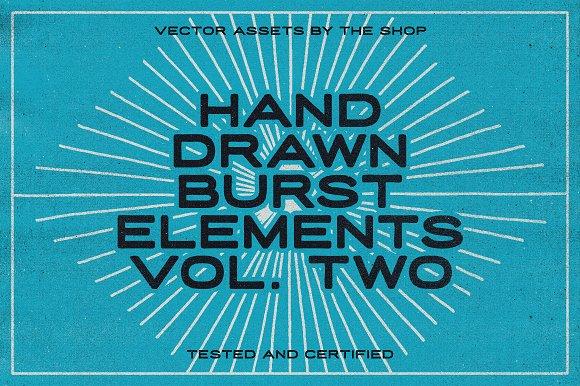 36 Hand-drawn Burst Elements