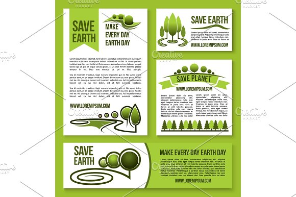 Save Earth And Planet Vector Nature Ecology Design