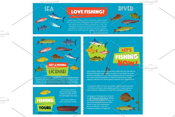 Vector Poster For Fishing Club Trip