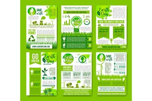 Earth nature vector ecology infographics brochure