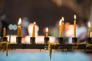 Buddhism candle