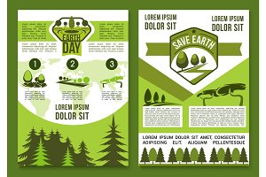 Vector brochures or posters for Earth Day