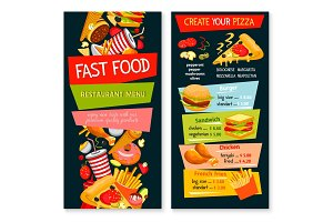 Fast food vector restaurant template menu
