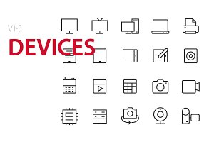60 Devices UI Icons