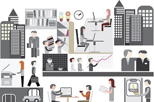 Office - vector illustration