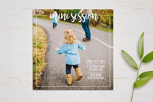 Mini Session Template