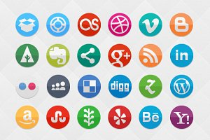 Funky Social Set (80 icons)
