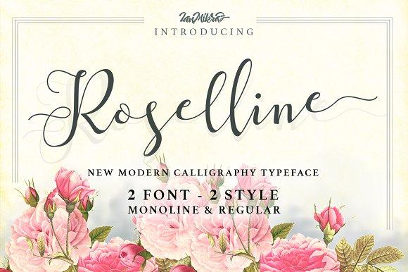 Roselline typeface script fonts creative market roselline typeface script m4hsunfo