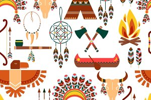 American Tribal Seamless Pattern