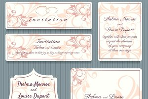 Wedding Invitation Card Elemets