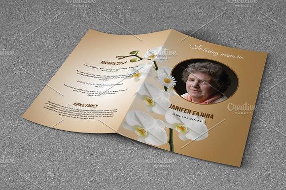 Funeral Program Template-V714