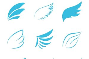 Vector Blue Wings Icons