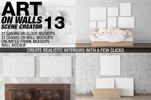Canvas Mockups - Frames Mockups v 13