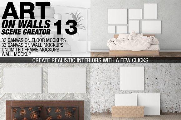 Free Canvas Mockups - Frames Mockups v 13