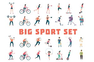 Sport People. Big set