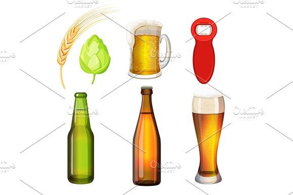 Barley Grains Malt Bottle Opener Flasks Tumblers With Glass Handle