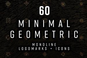 60 Minimal Geometric monoline logos