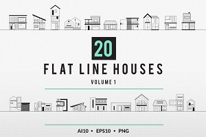 Modern House Illustration Flat Lines