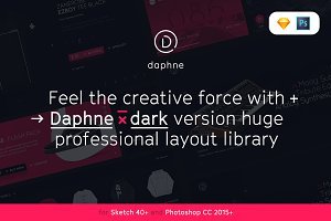 Daphne x Dark UI Kit for Sketch&PS