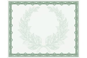 Certificate Scroll Background Template