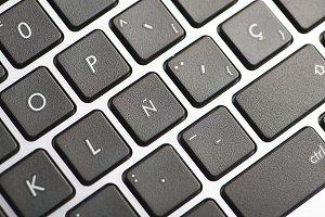 Laptop keyboard. Technology.