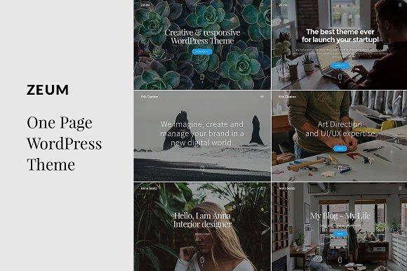 ZEUM- One Page WordPress Theme