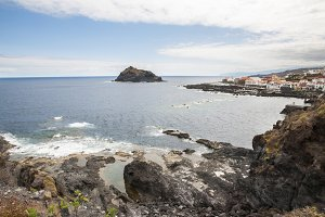 rocky beach of Tenerife