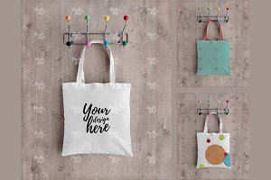 Canvas tote bag mockup #0475