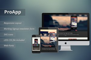 ProApp - Responsive Landing Page