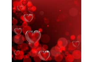 Valentines Day Corner Frame Background