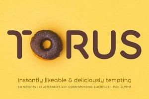 Torus –6 Rounded Monoline Fonts