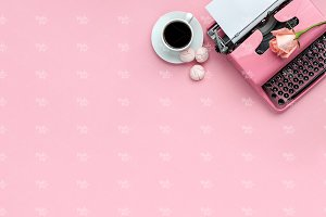 Pink styled stock photography #7774