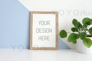 Frame Mockup A4 - Blue and White