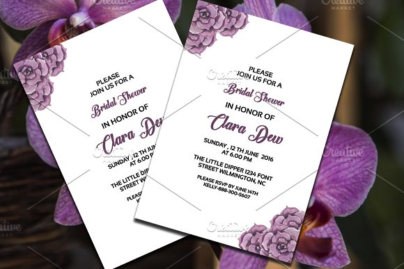 Watercolor Bridal Shower Template