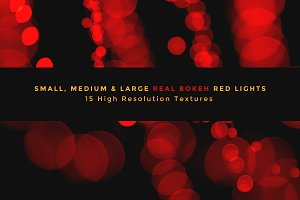 Real Bokeh Lights - Holiday Red