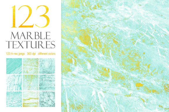 123 Marble Blue Gold Textures