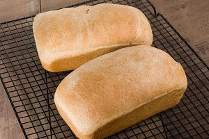 Loaves of whole wheat bread