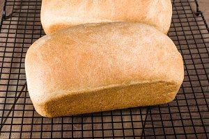 Whole wheat bread cooling