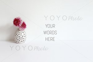 Styled Stock Photo - Wall & Flowers