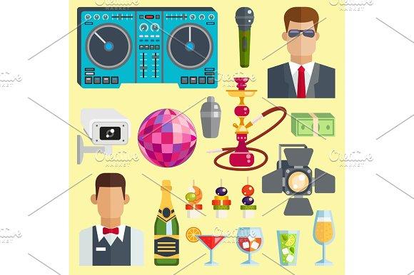 Night Club Vector Icons