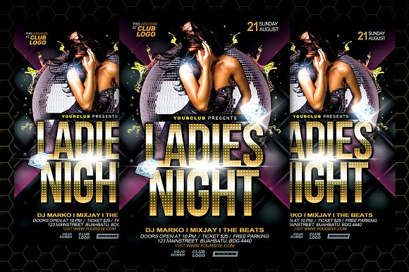 Ladies Night Flyer Template - Flyers