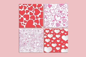 Background heart pattens