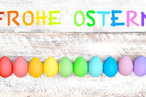 Easter eggs Frohe Ostern!