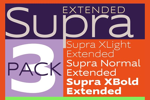 Supra Extended Fonts