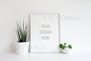 Empty White Frame - Styled Stock