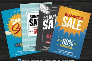 4 Summer Sale Flyer Set