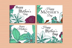 Floral mothers day flower cards
